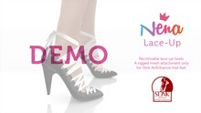 {Nena} Lace-Up Heels - DEMO