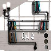 Apt B // Edison Pipe Bookshelf