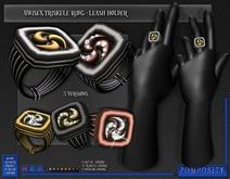POMPOSITY - Unisex Triskele RIng / Leash Holder ....(OpenCollar RLV compatible)