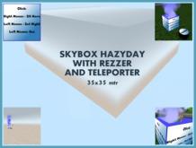 Skybox Hazyday with rezzer and teleporter Freebie