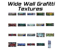 20 wide wall grafitti textures - full perm