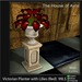 Victorian Planter with Lilies (red) - Mesh - 4 Prims Gothic furniture