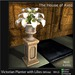 Victorian Planter with Lilies (White) - Mesh - 4 Prims