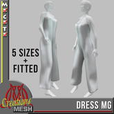 Dress MG, rigged 5 sizes + FITTED MESH FULL PERM