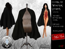 -o-o- Chained Heat -o-o- Cloak of Winter Storms - Black