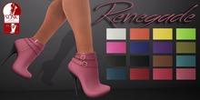 Mute. Renegade Booties - Black for Slink HIGH feet