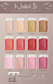 Nailed It - Maitreya - French Manicure - Pastels Set