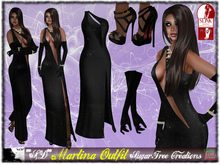 SALE Only 99L$ During The Week more 50% OFF**SD** -Martina -Formal ( Mesh Outfit ) with Shoes - Black 1.0