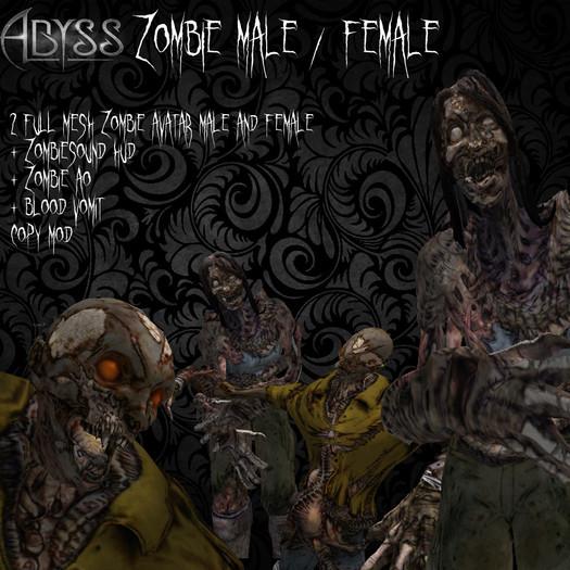 Male /  Female Zombie