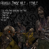 !Abyss Designs! Male /  Female Zombie