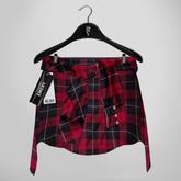 Emery Lumberjack Shirt Tied Around The Waist 03