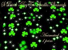 SPD - Texture Lights - St Patrick's Day Floor Sparkles ! Shamrocks