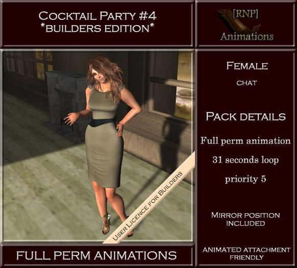 [RNP] Cocktail Party #4_Female -Chat - Full Perm Animation
