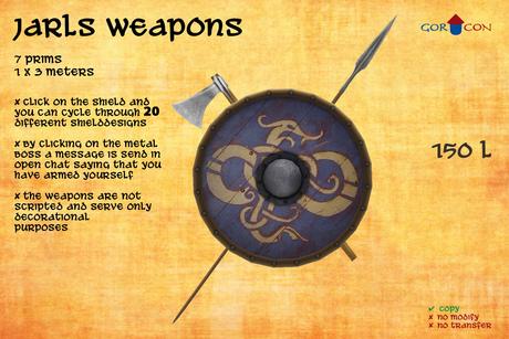 GOR CON Jarls weapons Axe & Spear - Vikings Torvaldsland