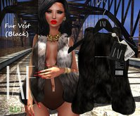 IAF Fur Vest (Black)