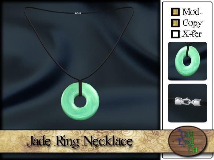 >^OeC^< Jade Ring Necklace