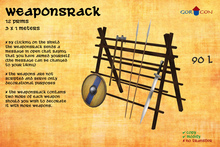 GORCON Weapons Rack - Medieval Torvaldsland Viking warrior