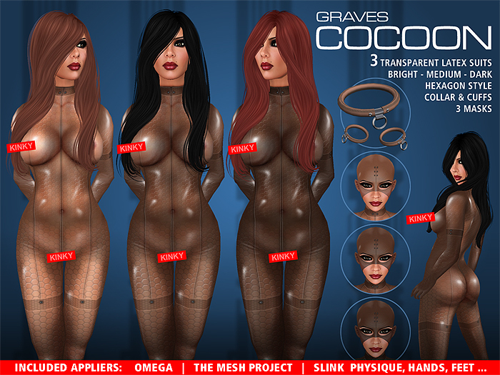 GRAVES Cocoon + inclusive Omega, Slink, TMP... latex catsuit