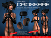 GRAVES Crossfire - Black - latex catsuit with leather harness + Omega, Slink, TMP appliers