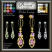 Beloved Jewelry : Duchess Earrings (Texture Change) Choice of Silver, Platinum, Gold, 12 Gem Choices. Amethyst