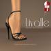 {Livalle} Modig -High Strapped Sandals- Noir