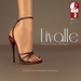 {Livalle} Modig -High Strapped Sandals- Cherry