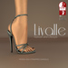 {Livalle} Modig -High Strapped Sandals- Pearl