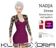 Klepsydra - Nadja Dress - Plum - Appliers