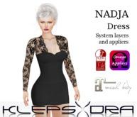 Klepsydra - Nadja Dress - Black - Appliers