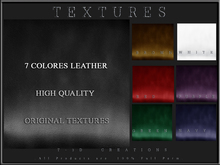 T-3D Creations [ Leather Textures - 002 ] - Full Perm -