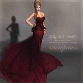 Snowpaws - Elegance Gown - Burgundy