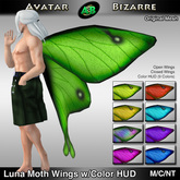AB Luna Moth Wings w Color HUD
