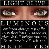 Mayfly - Luminous - Mesh Eyes (Light Olive)