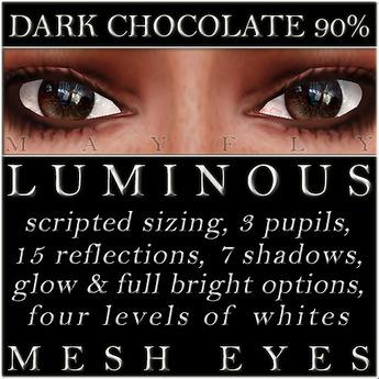 Mayfly - Luminous - Mesh Eyes (Dark Chocolate 90%)