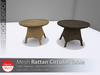 [DD] - FULL PERM Rattan Circular Table