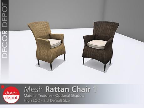 [DD] - FULL PERM  Rattan Chair 1