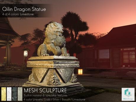 rezology Qilin Dragon Statue