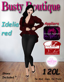 Busty Boutique Idelia red