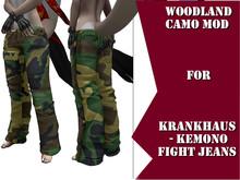 !!PF!! Woodland camo mod for krankhaus - Kemono FIGHT Jeans