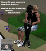 Female sitting on Males lap moving and realistic couple anim