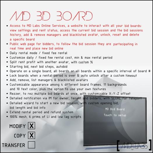 MD Bid Board