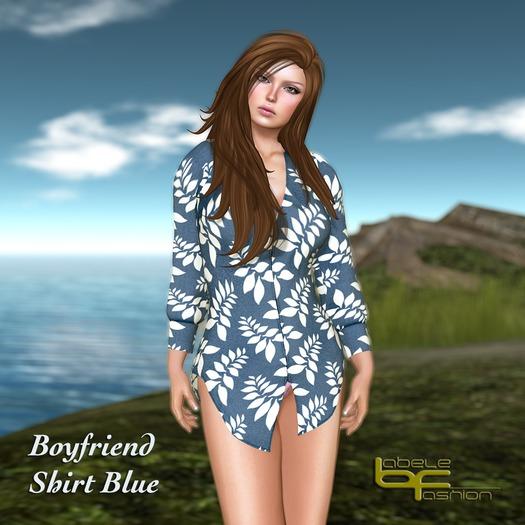 Babele Fashion :: Boyfriend Shirt Blue