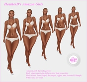 """Amazon Female Body Shapes for """"The Mesh Project"""""""
