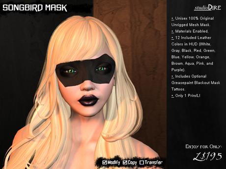 /studioDire/ Songbird Mask