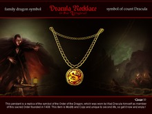 Gaagii - Dracula Necklace - Original symbol - order of the Dragon (male)