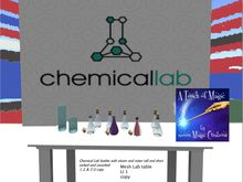 Chemical Lab bottles mixer & lab table(bag)