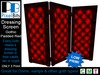 Dressing Screen - Gothic Padded Red