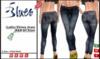 [BLUES] Ladies Skinny Jeans - R&B oil stain - (mesh)