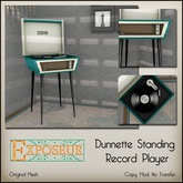 Exposeur - Dunnette Standing Record Player - Teal