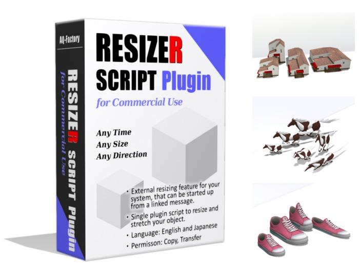 *AQF* Resizer Plugin Script [Copy,Transfer] (Resize & Stretch)
